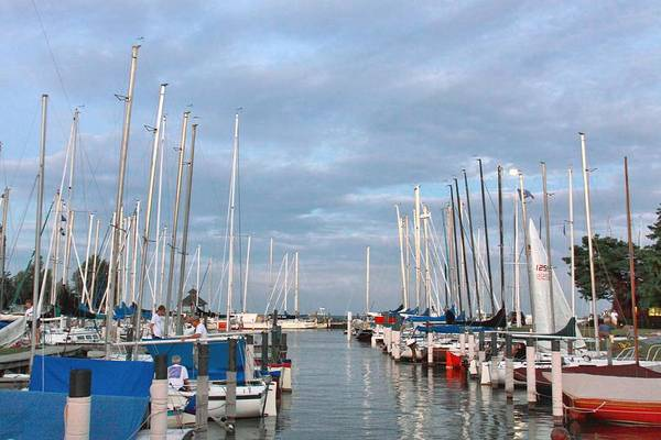 Grosse Pointe Farms Photograph - Crescent Sail Yacht Club by Kathy Wesserling