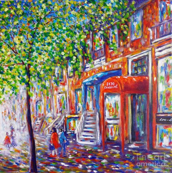 Wall Art - Painting - Crescent Street - Montreal by Cristina Stefan