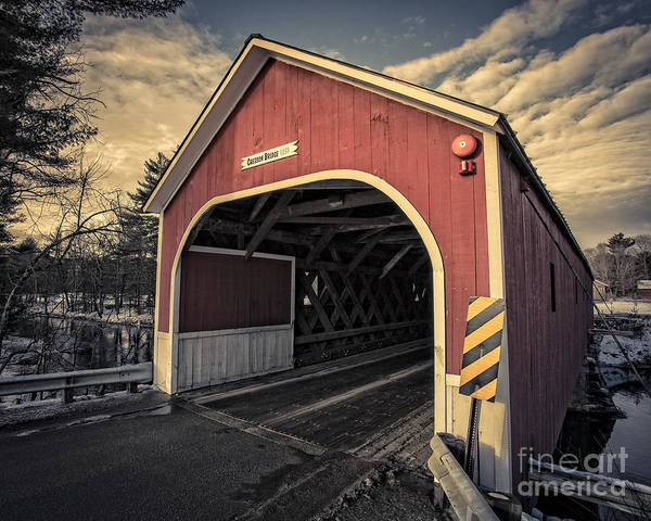 Photograph - Cresson Covered Bridge Sawyer Crossing by Edward Fielding