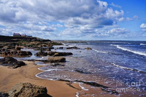 Photograph - Cresswell Beach And Rocks - Northumberland Coast  by Les Bell