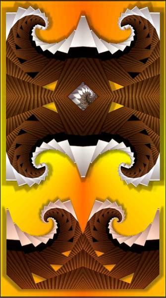 Mounted Digital Art - Crest by Ron Bissett