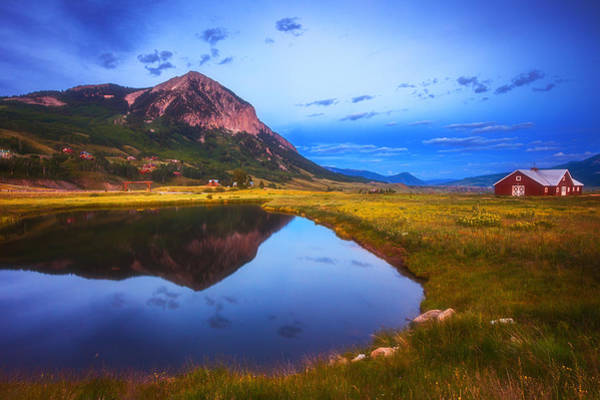Blue Hour Photograph - Crested Butte Morning by Darren  White