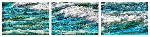 Painting - Cresting Waves by Michelle Calkins