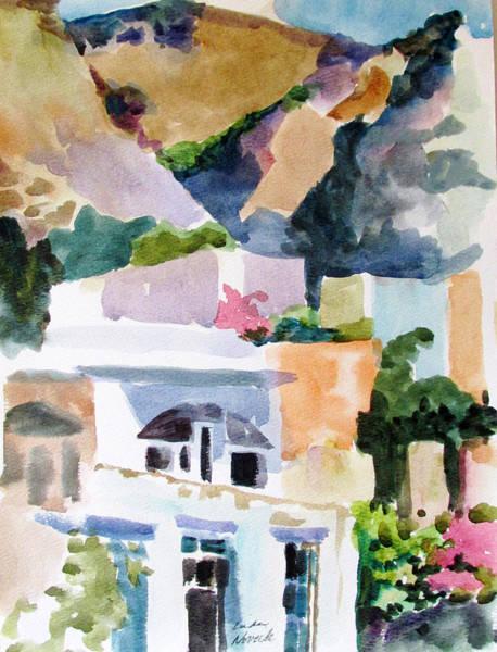 Painting - Crete Mountainside by Linda Novick