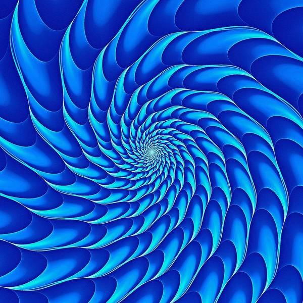 Digital Art - Cricca Nut Vortex Blue by Doug Morgan