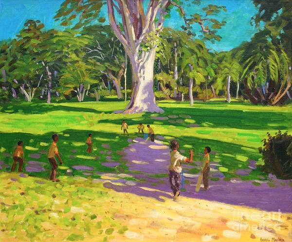 Big Island Painting - Cricket Match St George Granada by Andrew Macara