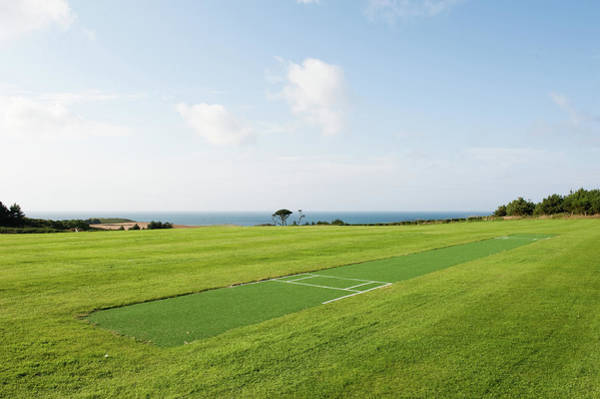 Channel Islands Photograph - Cricket Pitch by Lucy Lambriex