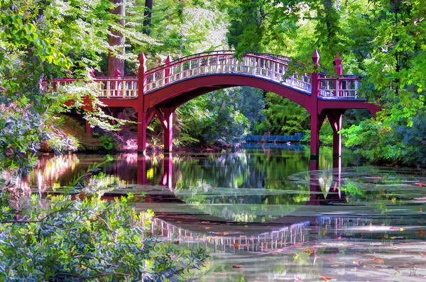 Crim Dell Bridge William And Mary College Art Print