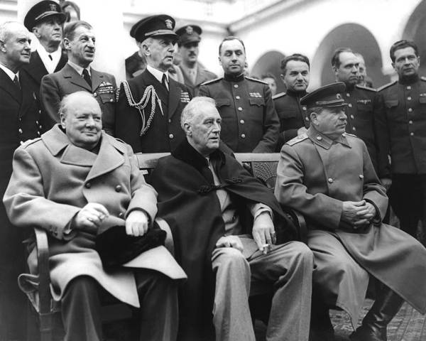 Wwii Photograph - Crimean Conference In Yalta by Underwood Archives