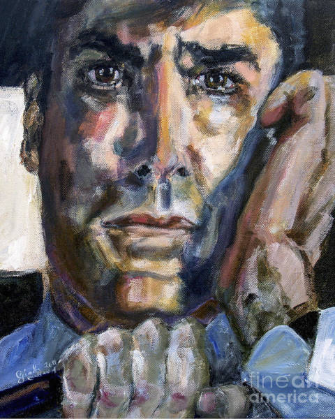 Painting - Criminal Minds Aaron Hotchner In 100 Episode Original Portrait by Ginette Callaway