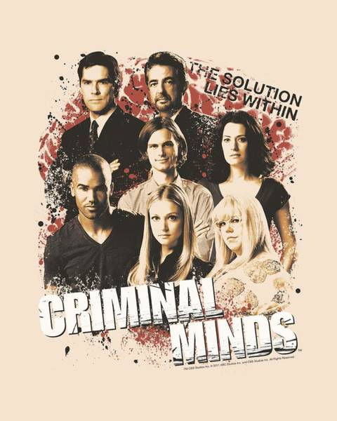 Tv Wall Art - Digital Art - Criminal Minds - Solution Lies Within by Brand A