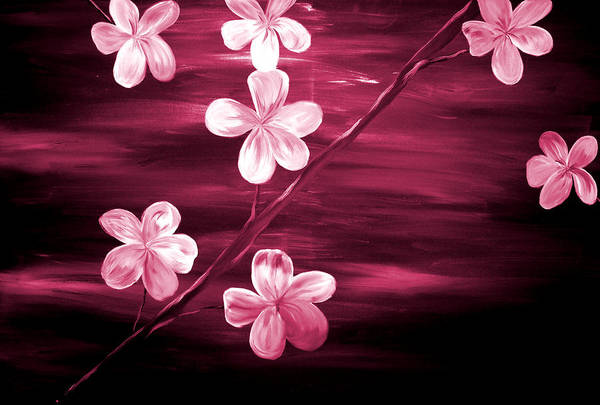 Wall Art - Painting - Crimson Cherry Blossom by Mark Moore
