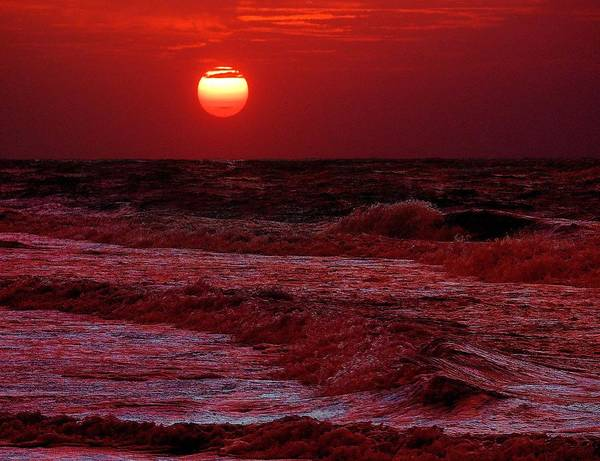 Wall Art - Digital Art - Crimson Tide Sunrise by Michael Thomas