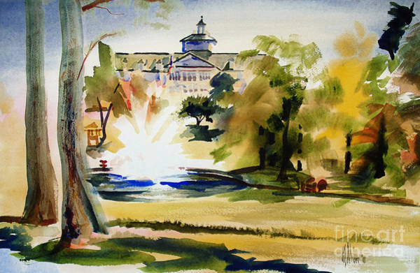 Painting - Crisp Water Fountain At The Baptist Home II by Kip DeVore