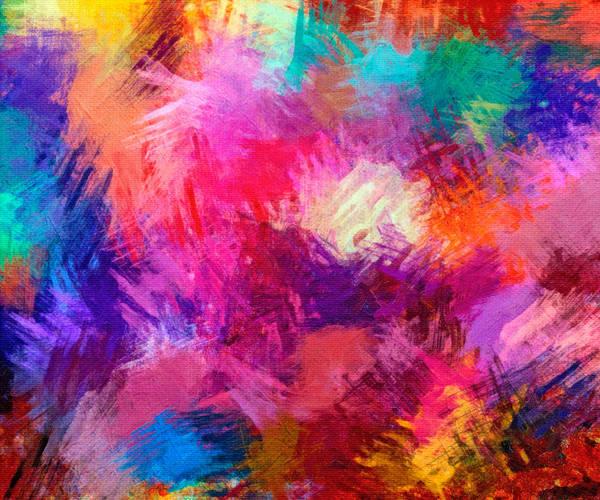 Digital Art - Crisscross Brushwork by Rick Wicker