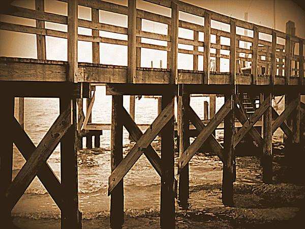 Cedar Key Photograph - Crisscross by Sheri McLeroy