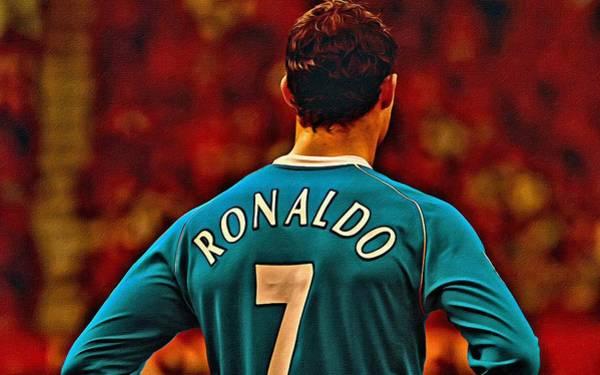Painting - Cristiano Ronaldo Poster Art by Florian Rodarte