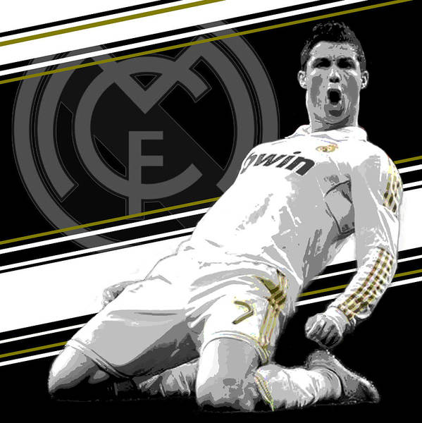 Athletes Wall Art - Photograph - Cristiano Ronaldo Real Madrid Print by Pro Prints