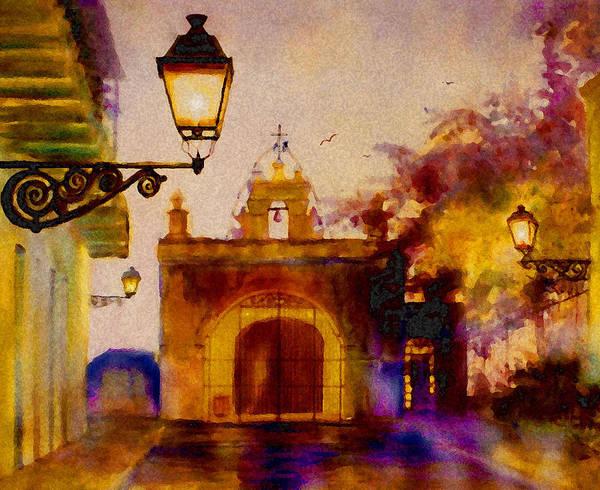 Acuarela Painting - Cristo Chapel San Juan by Estela Robles