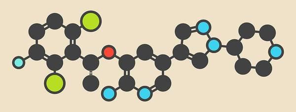 Neoplasm Photograph - Crizotinib Anti-cancer Drug Molecule by Molekuul