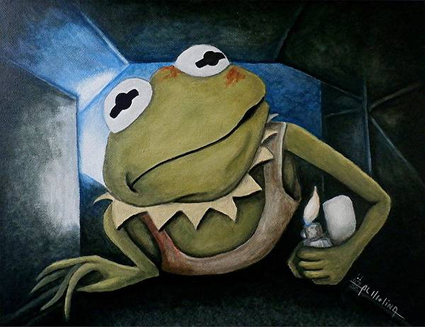 Wall Art - Painting - Croak Hard by Al  Molina