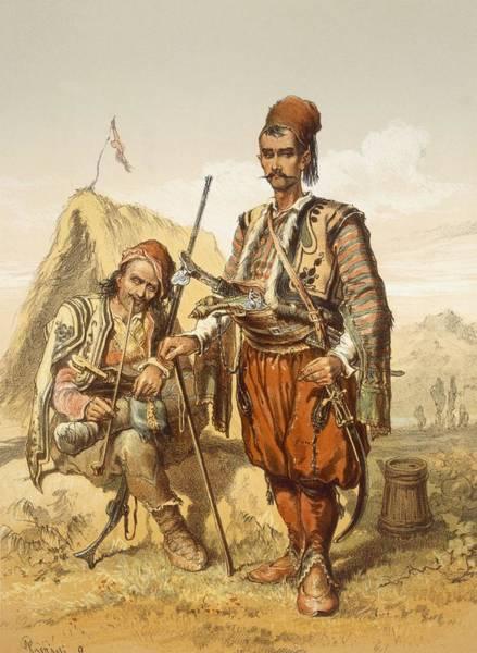 Empire Drawing - Croatian Guards, 1865 by Amadeo Preziosi