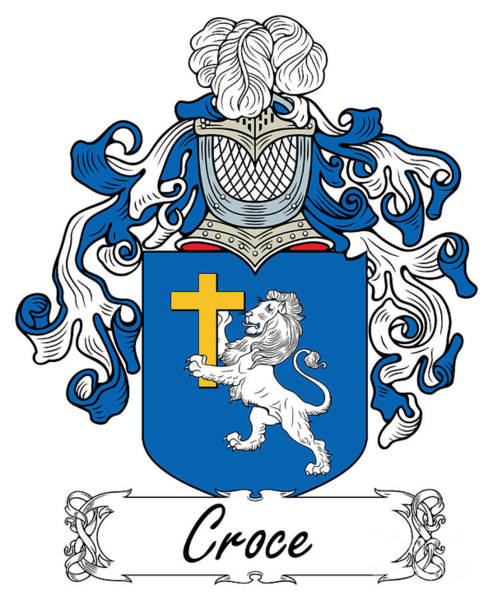 Croce Digital Art - Croce Coat Of Arms Italian by Heraldry