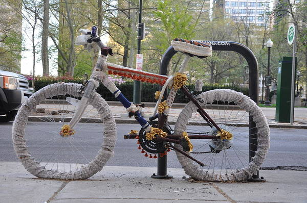 Photograph - Crocheted Bicycle by Bill Cannon