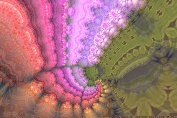 Digital Art - Crocheted Caterpillar  by Ann Stretton