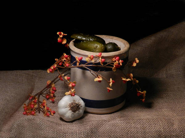 Photograph - Crock Of Pickles by Grace Dillon