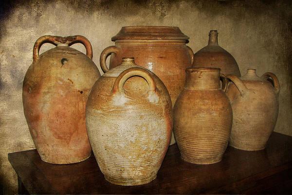 Stoneware Wall Art - Photograph - Crocks And Jugs by Nikolyn McDonald
