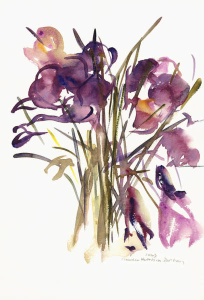 Wall Art - Painting - Crocus by Claudia Hutchins-Puechavy