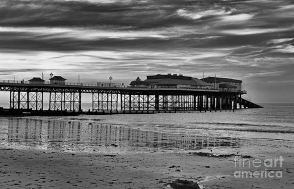 Waterbreak Wall Art - Photograph - Cromer Pier In Black And White by Avril Harris