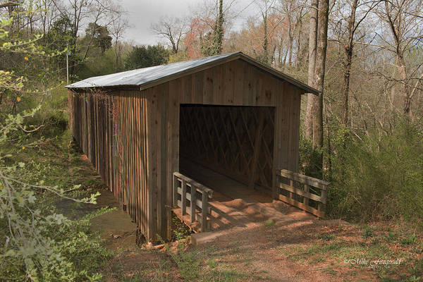 Photograph - Cromers Mill Covered Bridge by Mike Fitzgerald
