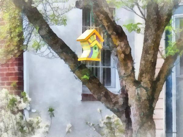 Photograph - Crooked Bird House by Susan Savad