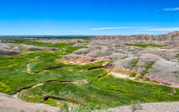 Photograph - Crooked Creek At The Badlands by John M Bailey