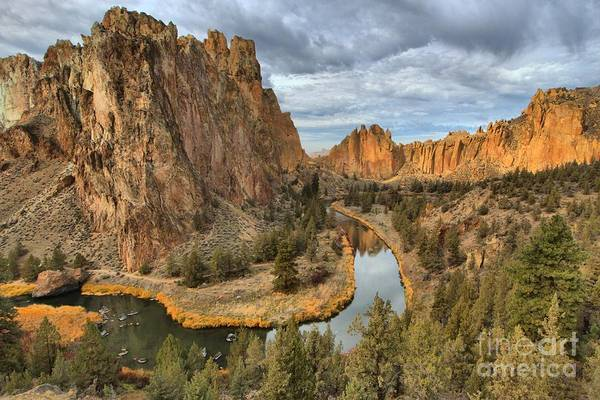 Crooked River Photograph - Crooked River Bends by Adam Jewell