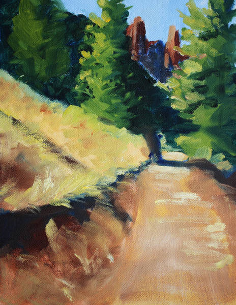 Wall Art - Painting - Crooked River Trail by Nancy Merkle