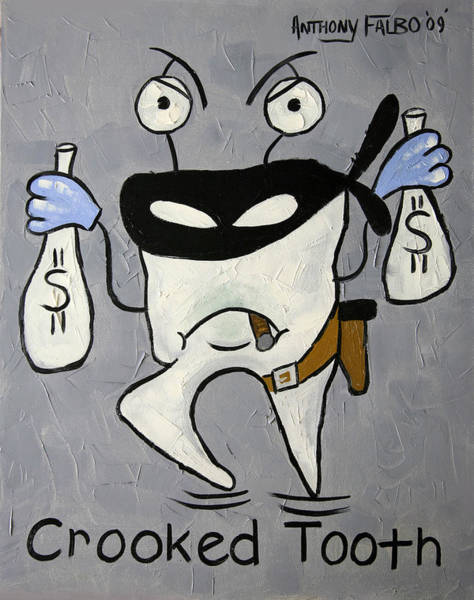 Giclee Painting - Crooked Tooth by Anthony Falbo