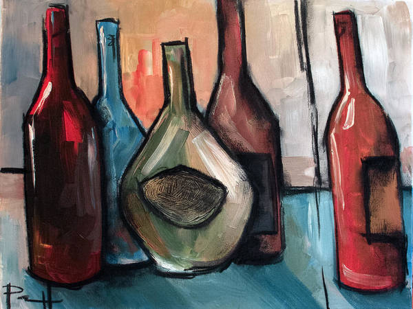 Painting - Crooked Vino by Sean Parnell