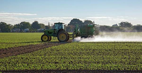 Biological Pest Control Photograph - Crop Spraying With Pesticide by Jim West