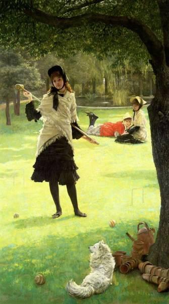 Painting - Croquet by James Jacques Joseph Tissot