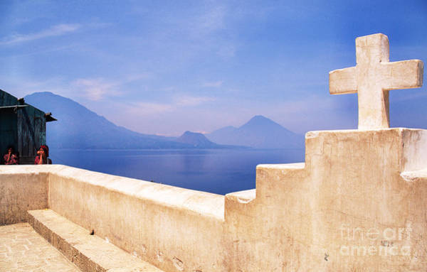 Photograph - Cross And Lake Atitlan by Thomas R Fletcher