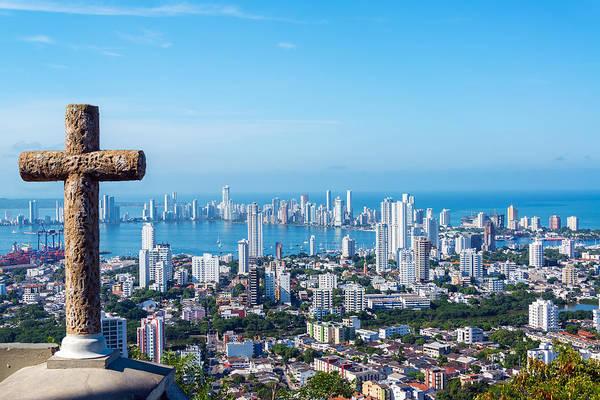 Cartagena Photograph - Cross And Modern City by Jess Kraft