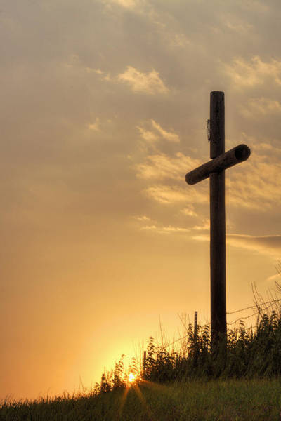 Photograph - Cross At Sunset by Rob Graham