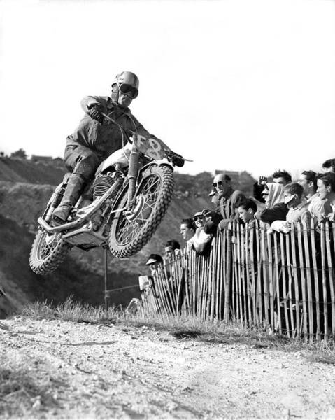 Appearance Photograph - Cross Country Motorcycle Racer by Underwood Archives