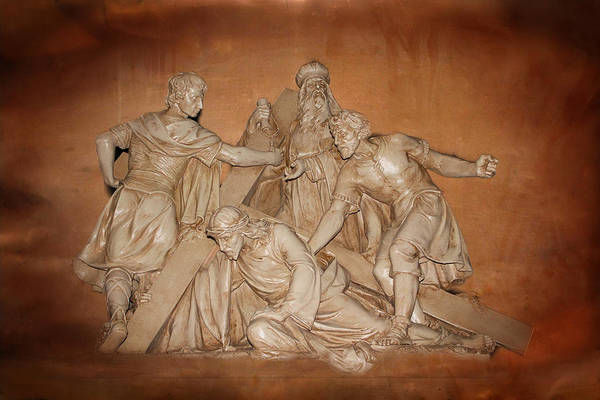 Photograph - Christ Carrying The Cross by Carlos Diaz