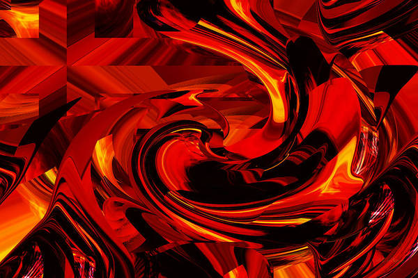 Digital Art - Cross In Fire by rd Erickson
