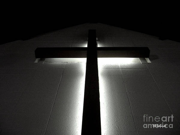 Photograph - Cross In The Old Sanctuary by E B Schmidt