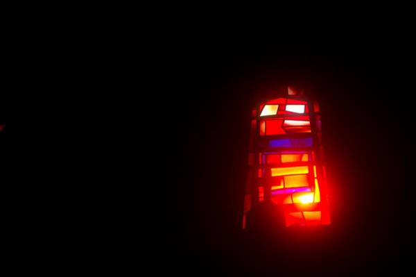 Vitrage Wall Art - Photograph - Cross On A Vitrage Window 4 by Yariv Weinberg